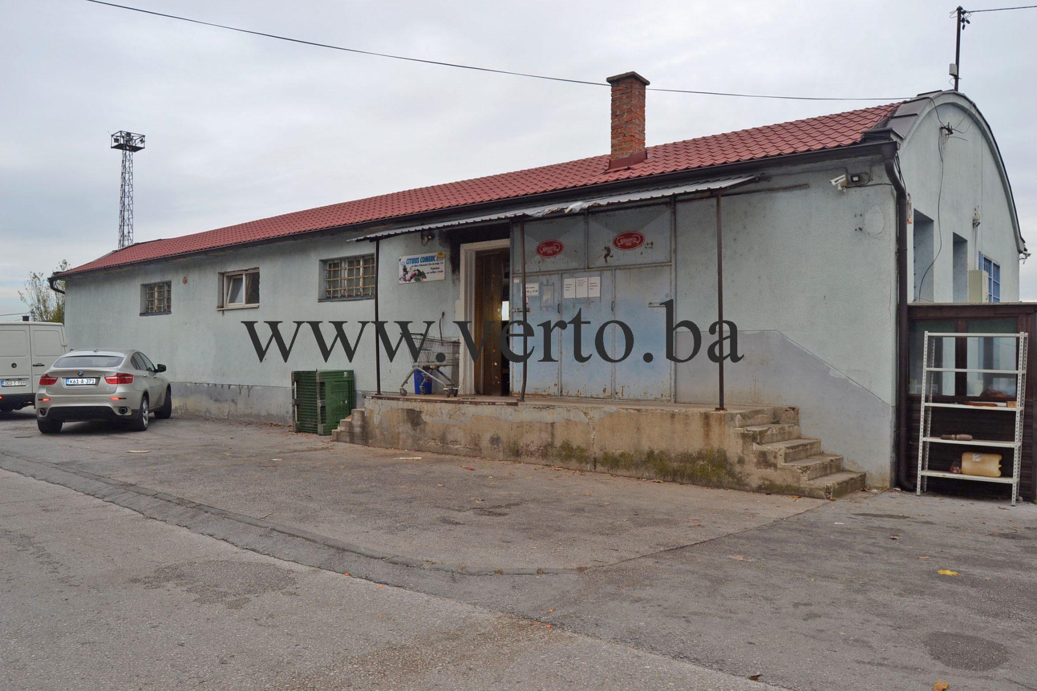 Hala povrsine 250 m2, Miladije, Tuzla