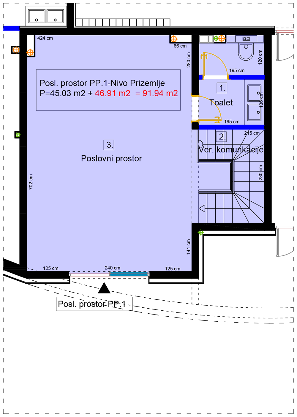 POSLOVNI PROSTOR, STUPINE, TUZLA – NOVOGRADNJA – 91,94 m2